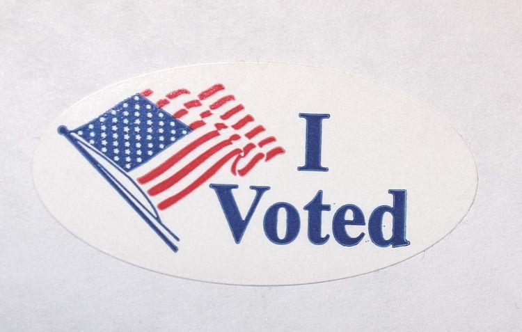 "Iconic ""I Voted"" sticker."