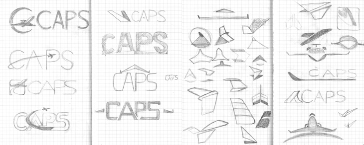 Initial sketches from our brainstorming sessions.
