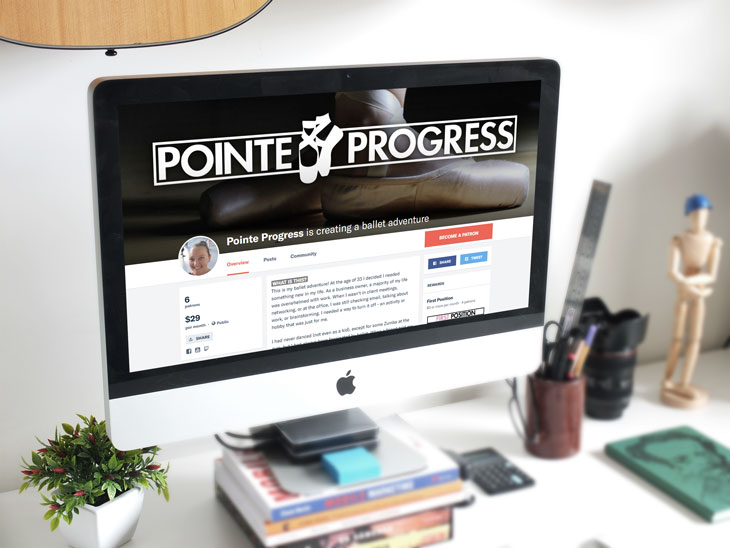 Point Progress Patreon campaign website.