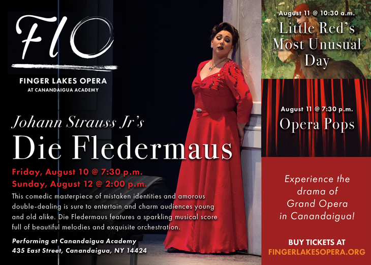 One of the 2018 Finger Lakes Opera print advertisements