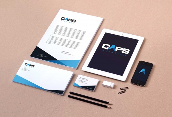 Our Work: CAPS Aviation Rebrand