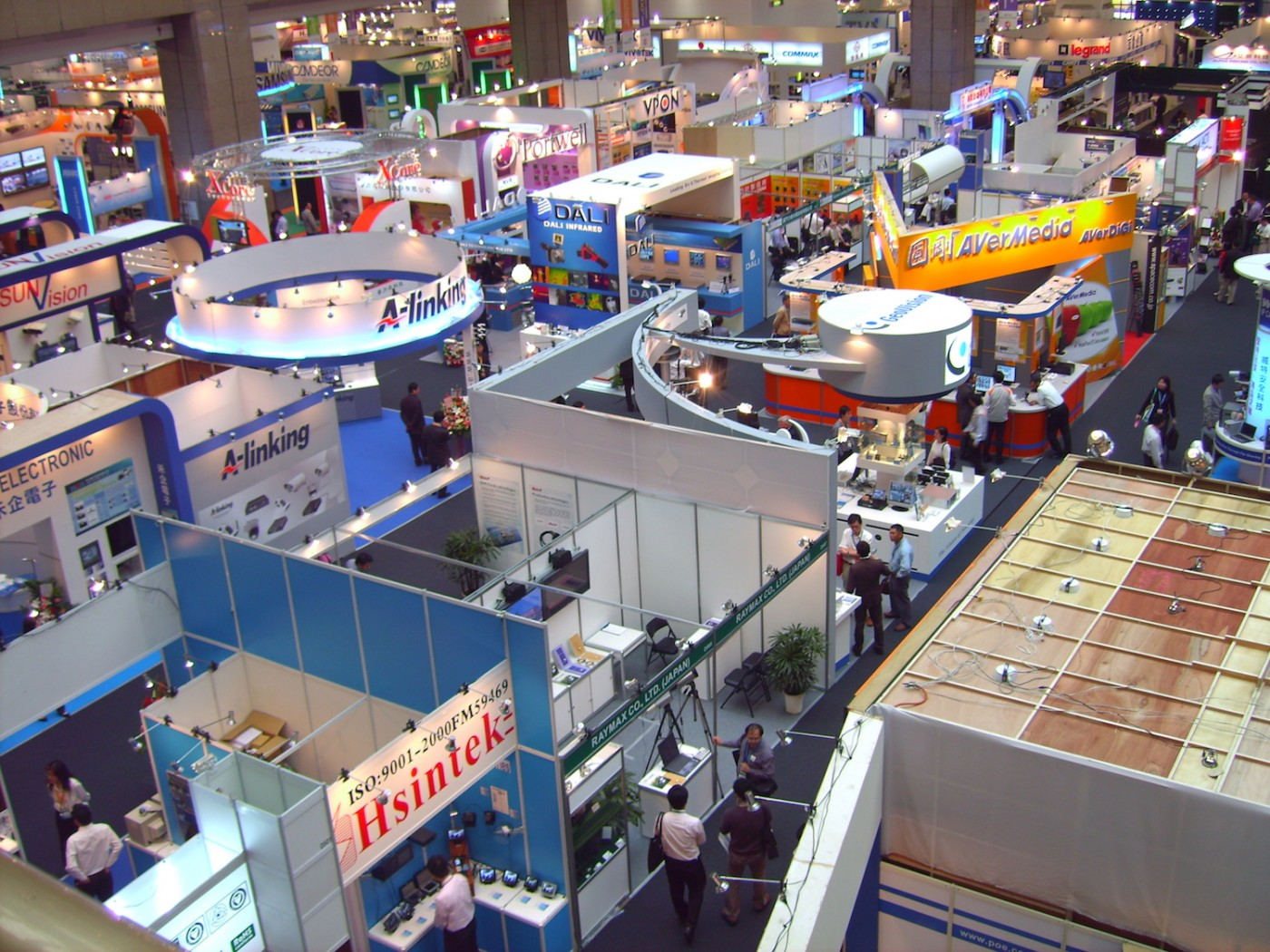 Trade show displays grid for Trade exhibition