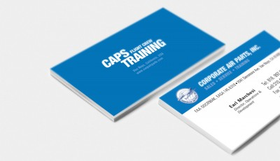 Our Work: Corporate Air Parts Business Cards