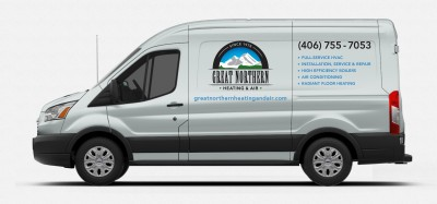 Our Work: Great Northern Heating & Air Vehicle Graphics
