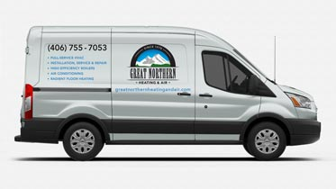 Great Northern Heating & Air vehicle graphics