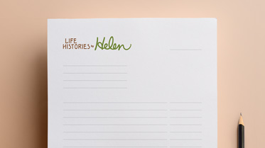 Life Histories by Helen invoice