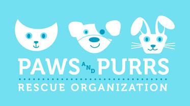 Paws & Purrs Rescue logo