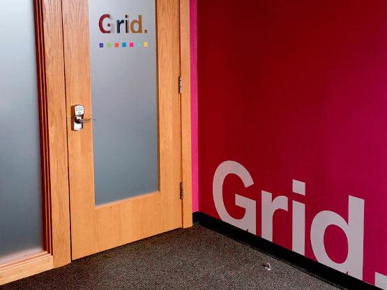 Grid Marketing entrance.